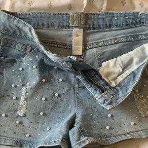 JUSTICE 16PLUS pearl/gem jean shorts